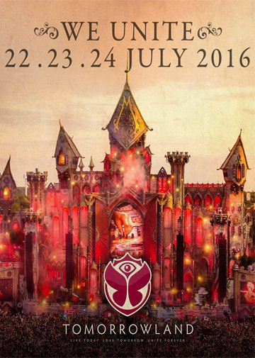 22-23-24, Juli 2016 Tomorrowland Eventreise - Sold Out